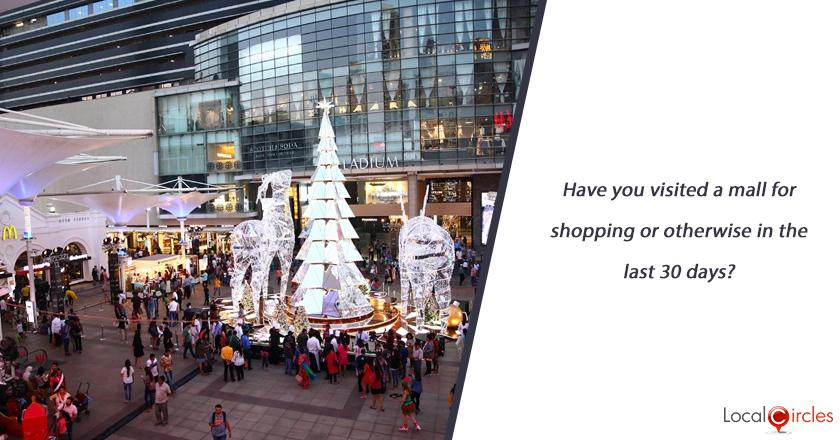 Have you visited a mall for shopping or otherwise in the last 30 days?