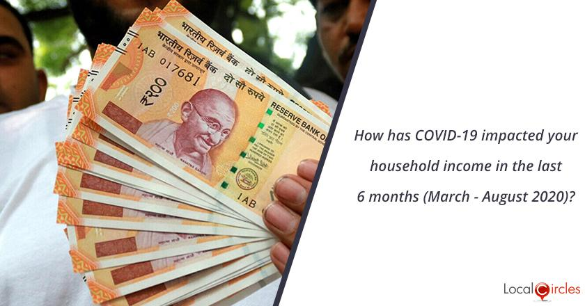 How has COVID-19 impacted your household income in the last 6 months (March - August 2020)?