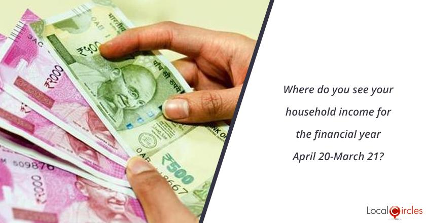 Where do you see your household income for the financial year April 20-March 21?