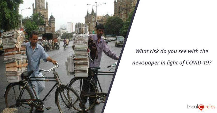 What risk do you see with the newspaper in light of COVID-19?