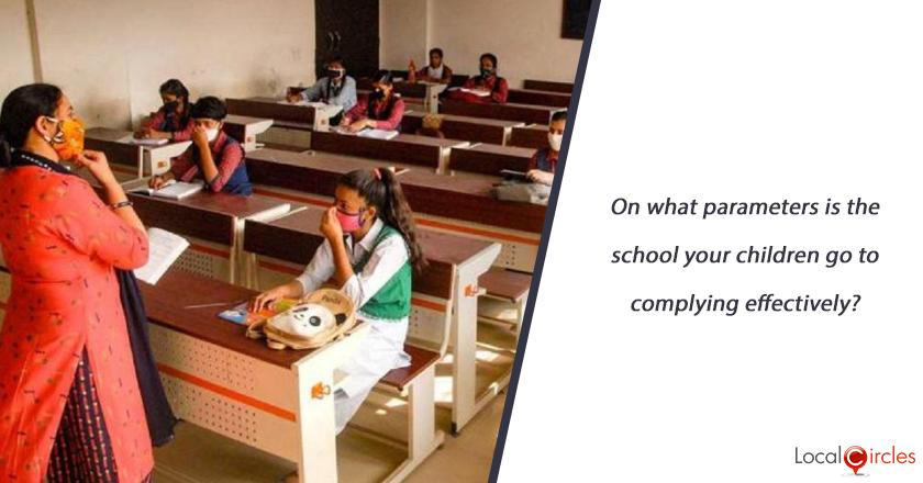 On what parameters is the school your children go to complying effectively?