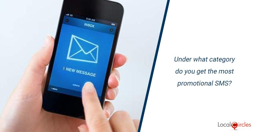 Under what category do you get the most promotional SMS?