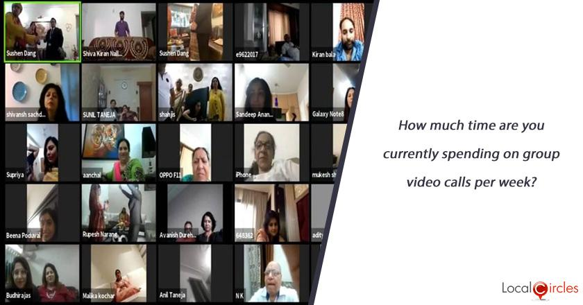 How much time are you currently spending on group video calls per week?
