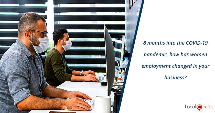 8 months into the COVID-19 pandemic, how has women employment changed in your business?