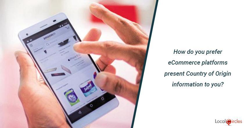 How do you prefer eCommerce platforms present Country of Origin information to you?