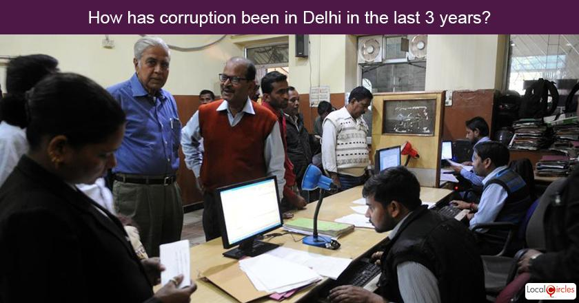 3 years of Delhi Government - How has corruption to get work done been under Delhi Government in the last 3 years? <br/> <br/>Police and Municipal governance does not come under jurisdiction of Delhi Government and it should not be included in the evaluation for fair assessment.