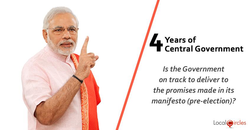Evaluating 4 years of Central Government: Is the Government on track to deliver to the promises made in its manifesto (pre-election)?