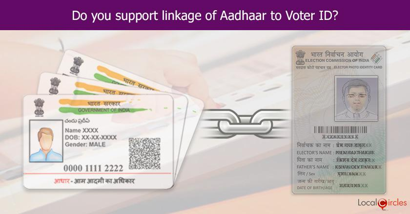 What is your opinion on linkage of Aadhaar with your Voter ID card to enable electronic voting in the future?