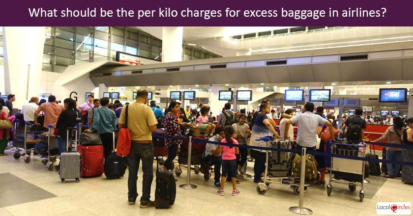 What is a reasonable charge for excess baggage on domestic flights? <br/> <br/>P.S. If the rates are too low, the facility has the potential to be misused