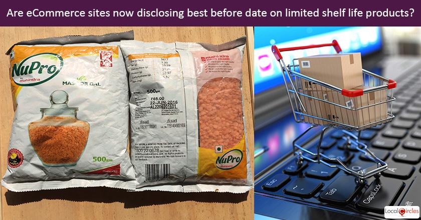 Effective Jan 1, 2018 eCommerce sites in India are now required to disclose best before date on limited shelf life products (groceries, medicines, cosmetics). Please share your first hand experience? <br/> <br/>P.S. Please be sure to visit eCommerce sites before sharing your experience for your vote to be useful.