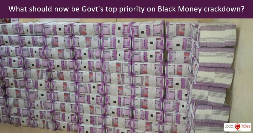 Drive against Black Money: What should now be Government's top priority initiative and target to crackdown on Black Money?