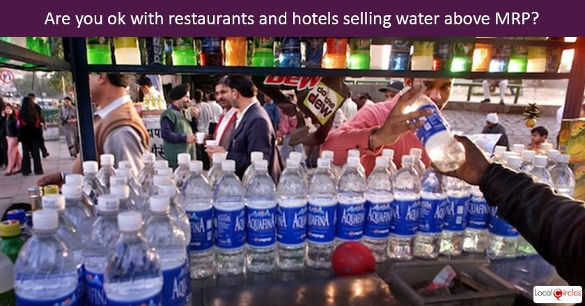 Per media reports, Supreme Court has permitted hotels and restaurants to sell water above the published MRP. Do you agree with this decision?
