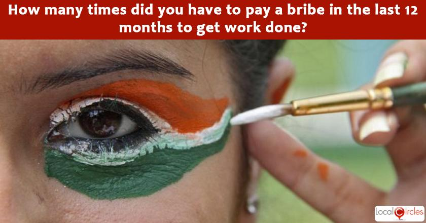 India Corruption Survey 2017: Please reflect back and share how many times did you have to pay a bribe of any kind in the last 12 months to get work done?