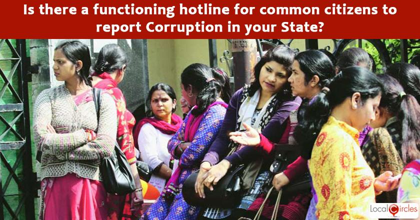 India Corruption Survey 2017: Has your State Government, State Anti-Corruption Bureau, or State LokAyukta enabled a functioning hotline for common citizens to report Corruption?
