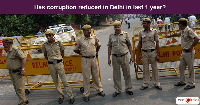 Delhi Corruption Poll: What is your experience or perception of bribery and corruption in Delhi in the last one year?
