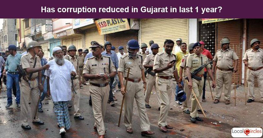 Gujarat Corruption Poll: What is your experience or perception of bribery and corruption in Gujarat in the last one year?
