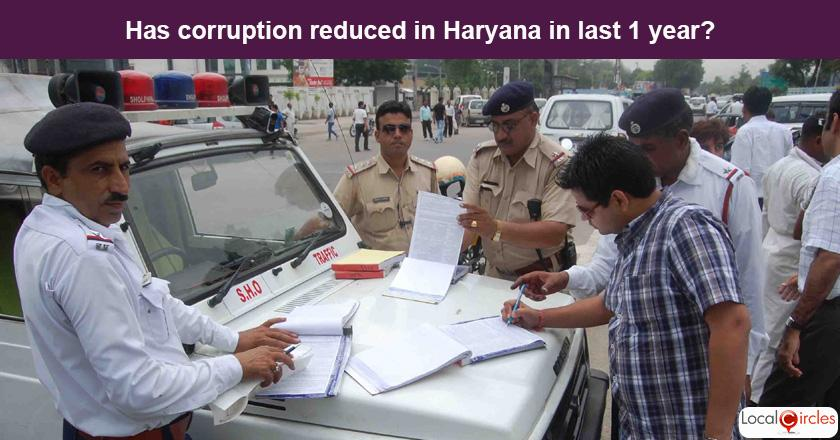 Haryana Corruption Poll: What is your experience or perception of bribery and corruption in Haryana in the last one year?