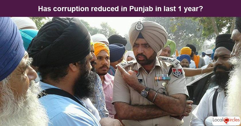 Punjab Corruption Poll: What is your experience or perception of bribery and corruption in Punjab in the last one year?