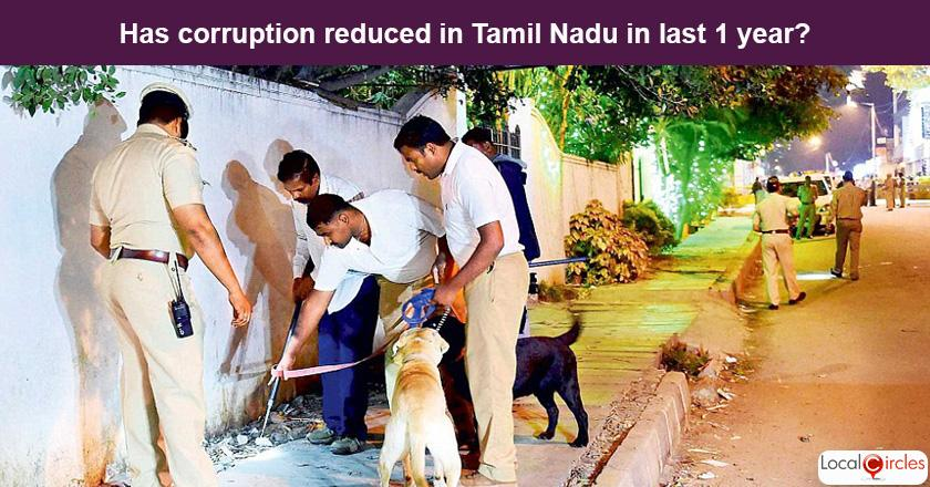 Tamil Nadu Corruption Poll: What is your experience or perception of bribery and corruption in Tamil Nadu in the last one year?