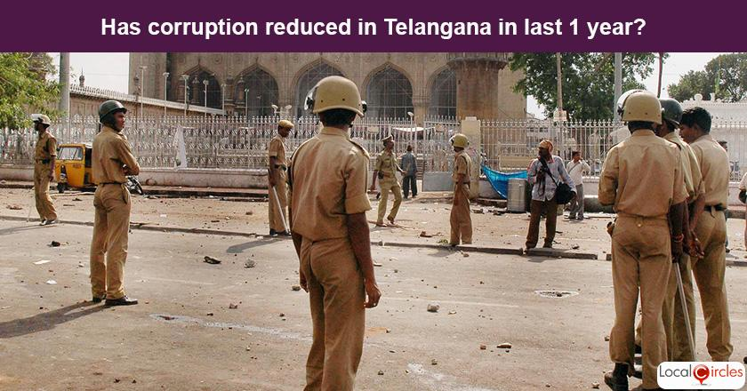 Telangana Corruption Poll: What is your experience or perception of bribery and corruption in Telangana in the last one year?