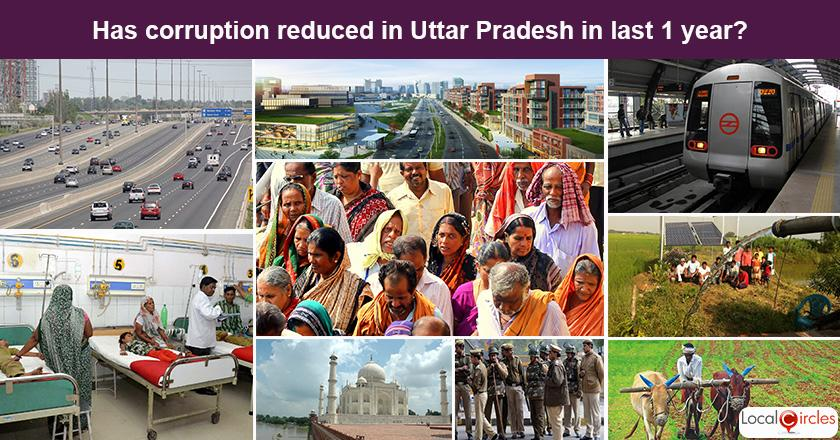 Uttar Pradesh Corruption Poll: What is your experience or perception of bribery and corruption in Uttar Pradesh in the last one year?