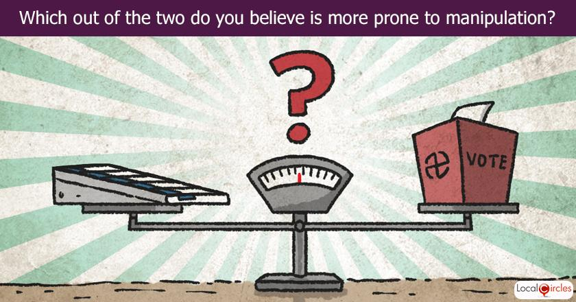 Which out of the two do you believe is more prone to manipulation?