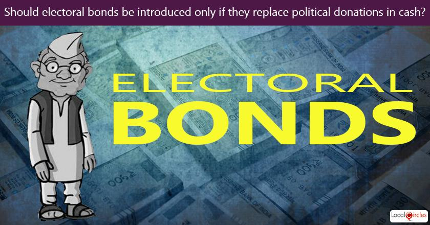 Should cash donations to political parties be completely stopped if electoral bonds were to be introduced?
