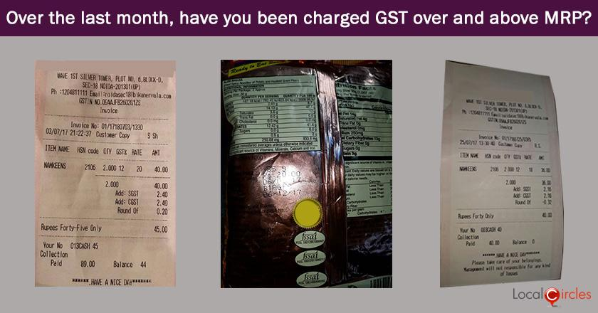 GST-MRP Compliance Poll: Over the last month, how many instances have you experienced where GST was being billed to you over and above the published MRP?