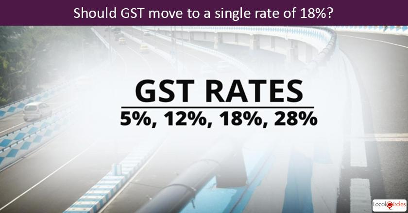 6 months of GST:	Should GST move to a single rate of 18%?