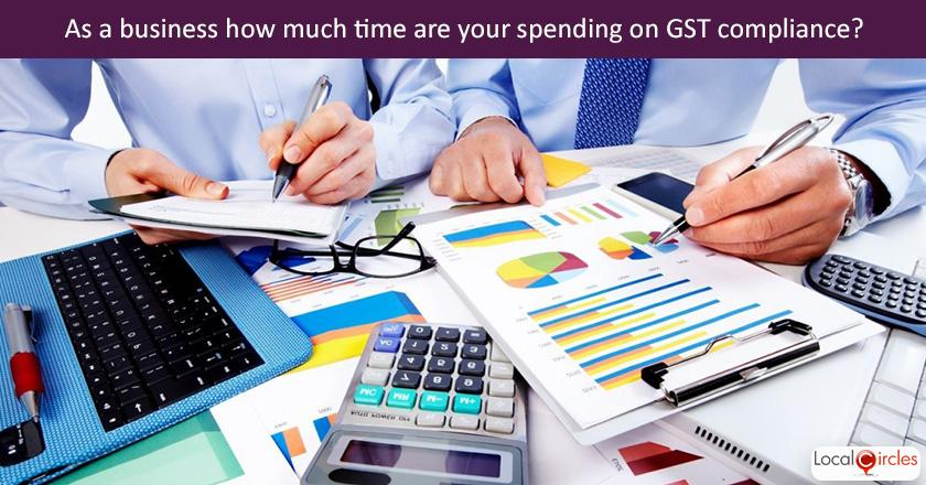 Making GST work better for businesses: Q2. As a startup, sme, service provider or business head, how much of your time are you spending on GST and related compliances?