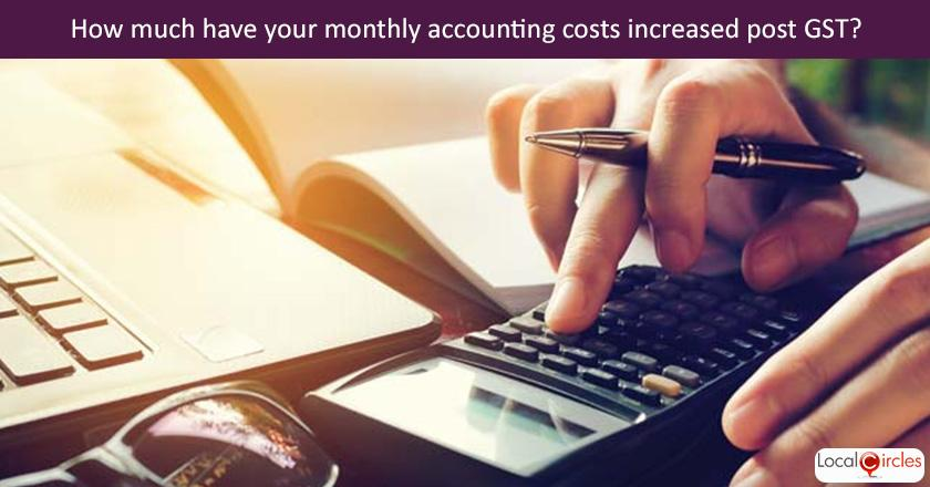Making GST work better for businesses: Q4. How much have your monthly costs of accounting services/compliance increased as a result of introduction of GST?