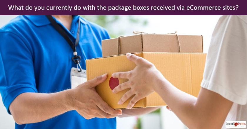 Making eCommerce environment friendly: What do you currently do with the package boxes received via ecommerce sites?