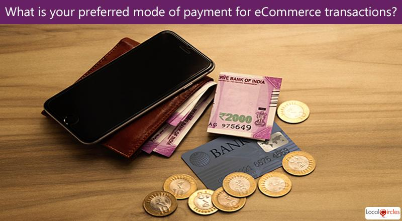 Making eCommerce work better for Consumers: What is your preferred mode of payment for eCommerce transactions?