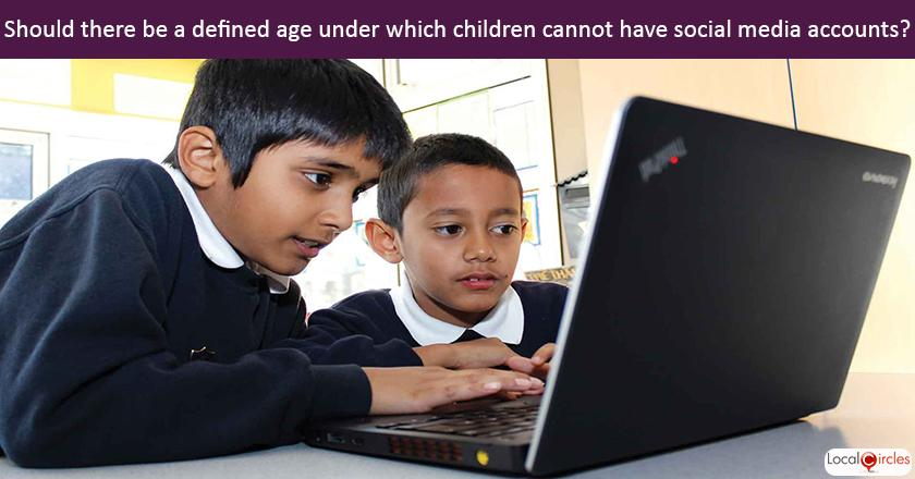 Making internet safe for children: Should the Government and Schools in India define an age under which children cannot have social media accounts?