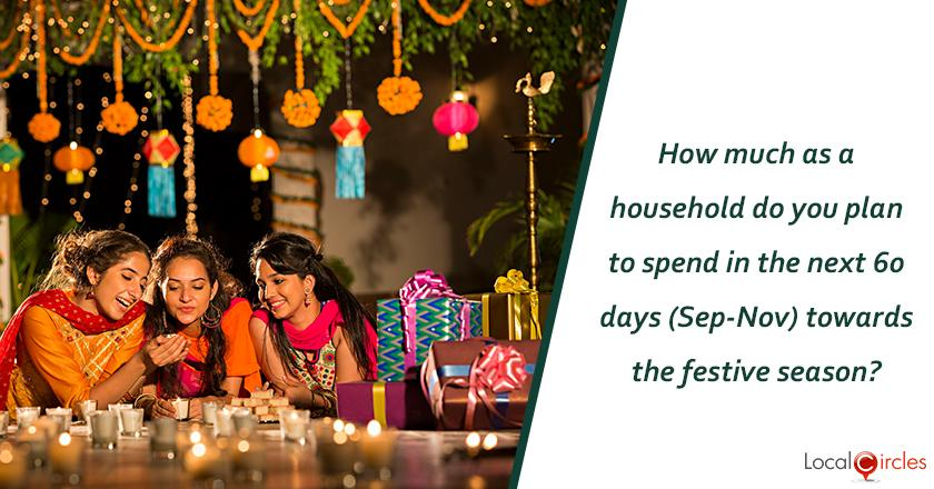 Mood of the Consumer Poll: How much as a household do you plan to spend in the next 60 days (Sep-Nov) towards the festive season?