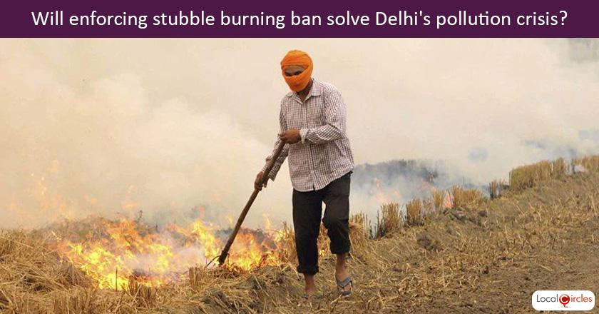 Can enforcing stubble burning ban effectively in nearby states solve Delhi NCR's pollution crisis?