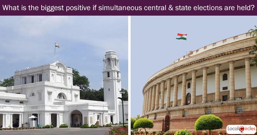 Q2. What is the biggest positive according to you if simultaneous central and state elections are held?