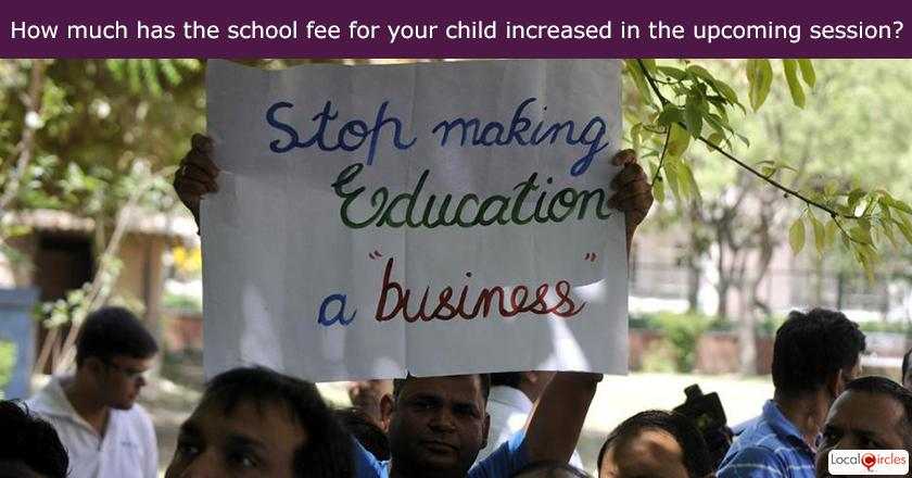 What is the percentage school fee increase for your child/grand child from last year to this year?