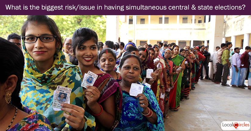 Q3. What is the biggest risk or issue in having simultaneous central and state elections ?