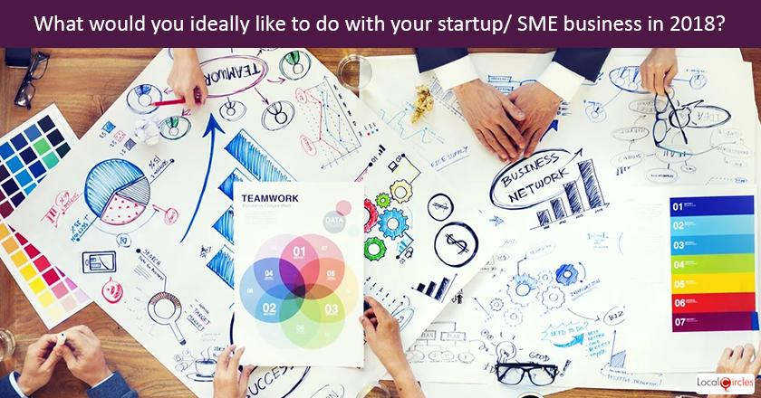 Startup Pulse - What would you ideally like to do with your startup/ SME business in 2018?