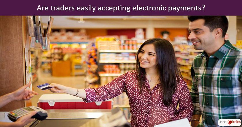 When doing local purchases, how do traders and retailers respond when you want to make an electronic or digital payment?