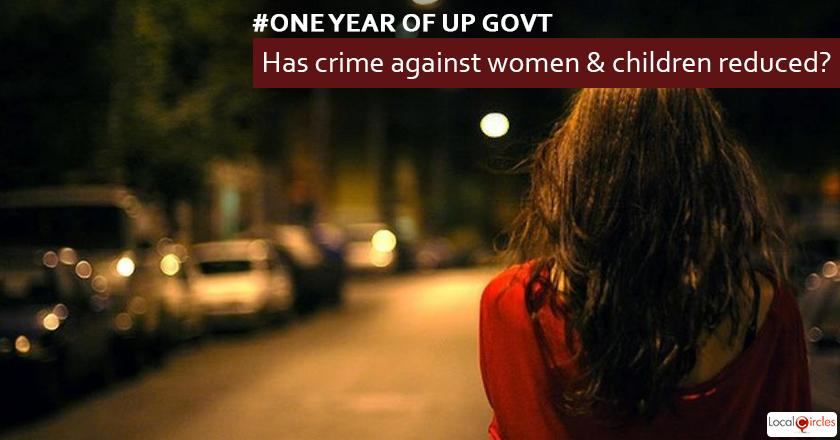 1 year of UP Government: How do you rate reduction in crime against women and children in the last 1 year?