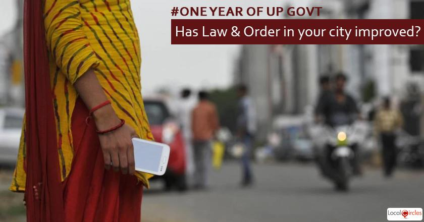 1 year of UP Government: How do you rate improvement in law and order in your city in the last 1 year?