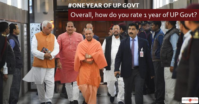 Overall, how do you rate 1 year of UP Government?