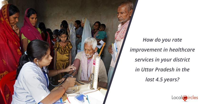 4.5 years of Yogi Governance: How do you rate improvement in healthcare services in your district in Uttar Pradesh in the last 4.5 years? <br/> <br/>Kindly consider key parameters as availability, affordability and quality.