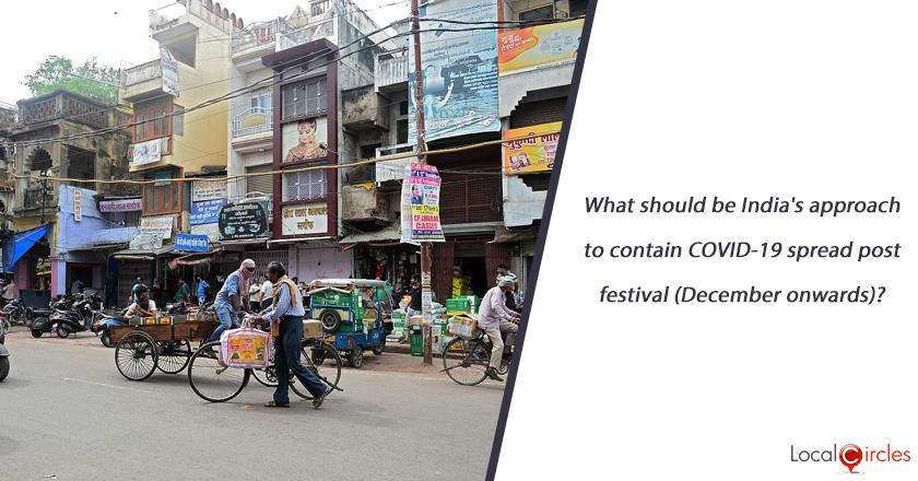 What should be India's approach to contain COVID-19 spread post festival (December onwards)?