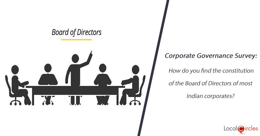 Corporate Governance Survey: How do you find the constitution of the Board of Directors of most Indian corporates?