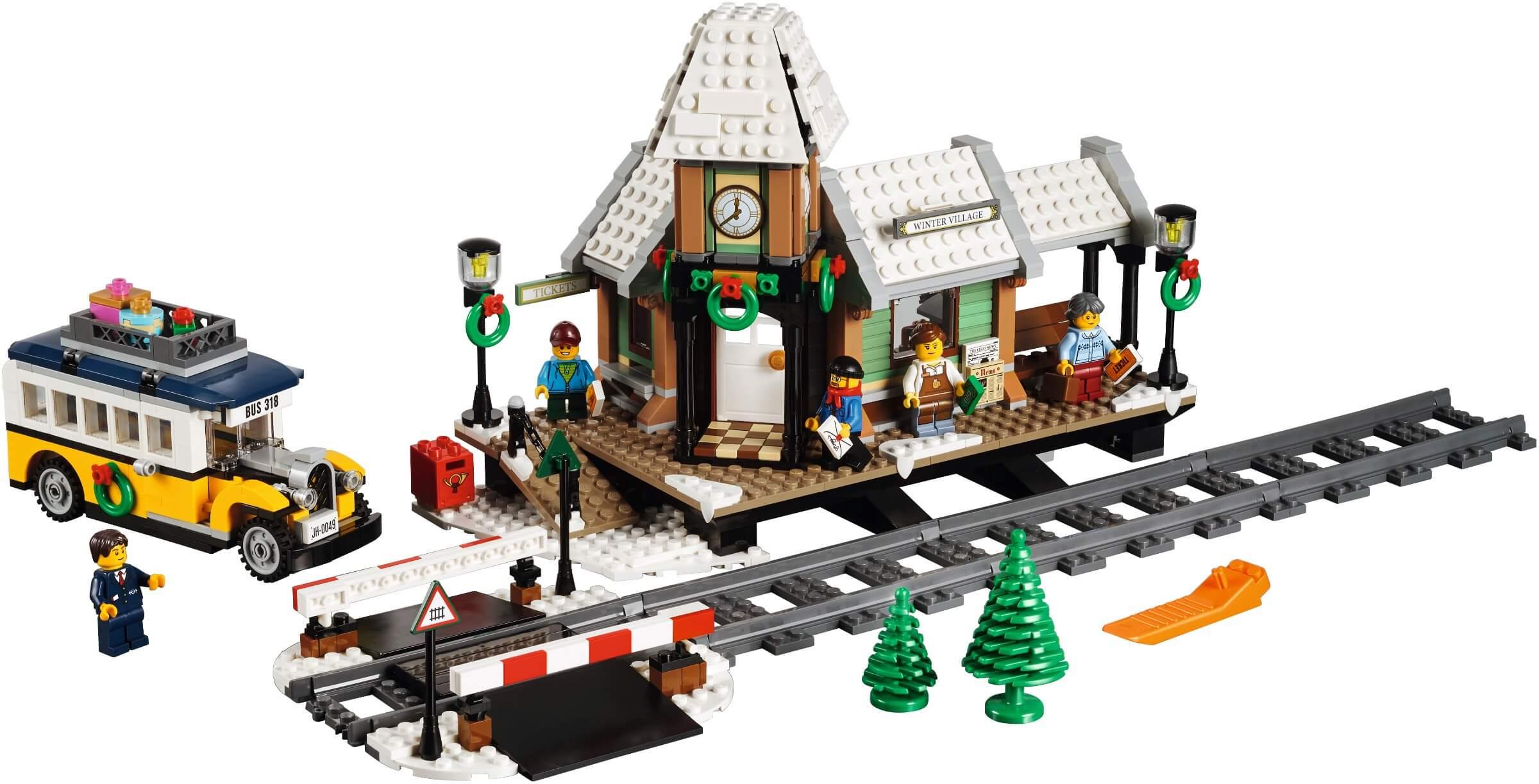Mua đồ chơi LEGO 10259 - LEGO Creator Expert 10259 - Trạm Xe Lửa phủ Tuyết (LEGO 10259 Winter Village Station)
