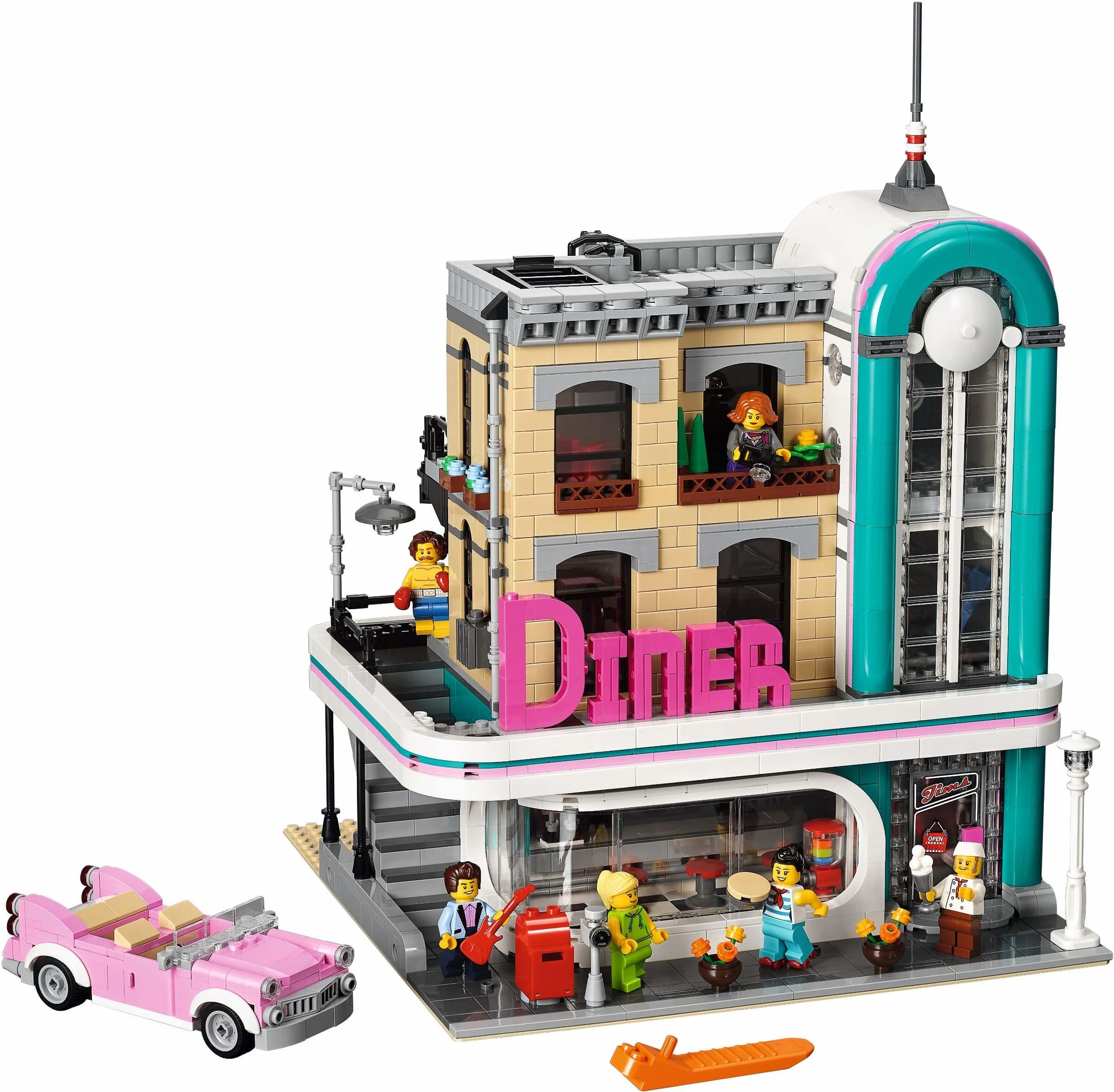 Mua đồ chơi LEGO 10260 - LEGO Creator 10260 - Nhà Hàng (LEGO Creator 10260 Downtown Diner)