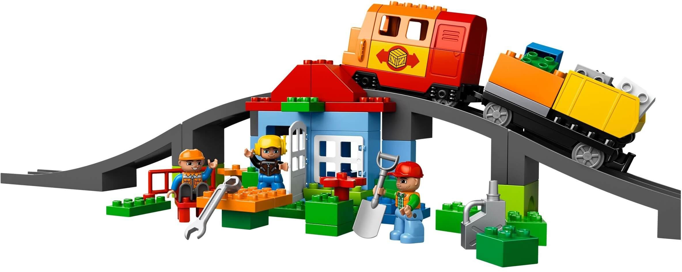 Mua đồ chơi LEGO 10508 - LEGO DUPLO 10508 - Bộ Xe Lửa Cao Cấp (LEGO DUPLO Deluxe Train Set 10508)